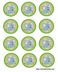 Free Printable Baby Shower Clip Art | Free Printable Labels (Jungle themed Baby Shower) | Print This Today