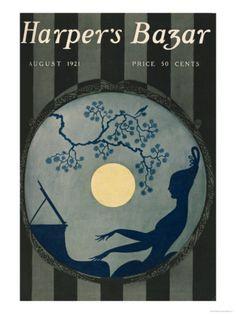 Harper's Bazar, August 1921 Premium Poster at Art.com
