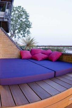 Arredamento per terrazzo - Maxi cuscini a terra
