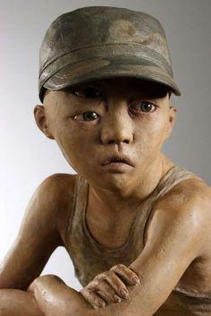 Seungchun Lim Explores Darkness with Daunting Human Clay Sculptures
