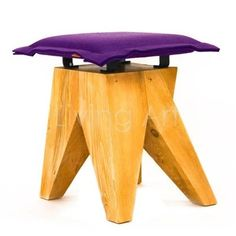 Create a statement with this stunning wooden stool, featuring an angular design and coloured felt pad. Team with sleek lines, glass topped tables and a neutral palette for a modern living room look. Home Living, Living Room Decor, Modern Living, Art Storage, Storage Ideas, Wooden Stools, Neutral Palette, Office Interior Design, Picnic Table