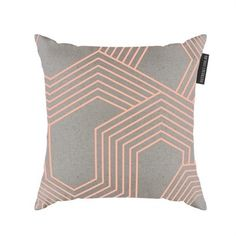 awesome On The Sly Geo Cushions Neon Peach