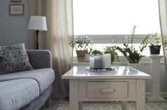 Love the coffee table.  Living room by KatjaR., via Flickr