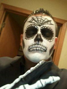 My dia de los muertos Halloween costume 2012 sugar skull
