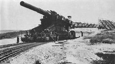 Schwerer Gustav and Dora -- These two monstrous German 80 cm railway siege guns are the largest caliber-rifled weapons ever. They were used in live combat during World War 2. They have the heaviest ammunition shells ever in history.