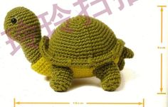 Amigurumi  tortuga - patrón gratis en castellano
