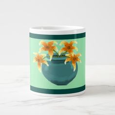 """Jar of Lillies"" Jumbo Kitchen Mug"