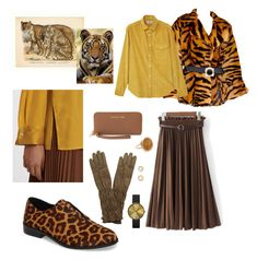 """""""Animal print🐅🐅"""" by obretin-raluca on Polyvore featuring 1.State, Michael Kors, MANGO, Fratelli Rossetti, Newgate, Ginette NY, Bloomingdale's and Ani"""