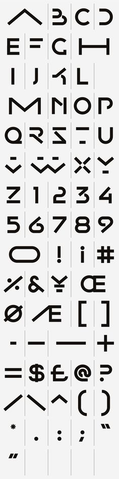 CA Collection — Typeface by SAWDUST , via Behance