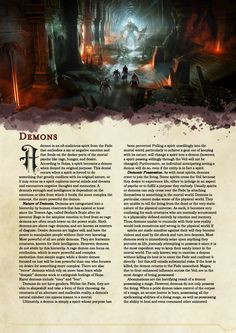 DnD 5e Homebrew — Dragon Age Demons Part 1 by Emmetation