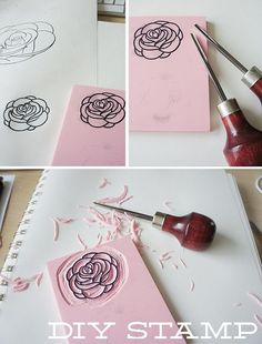 Incredibly easy diy stamps! Perfect for customizing cards of just crafting!: