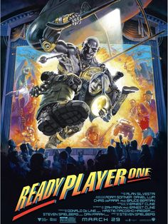 Ready Player On poster, the Last Action Hero homage..