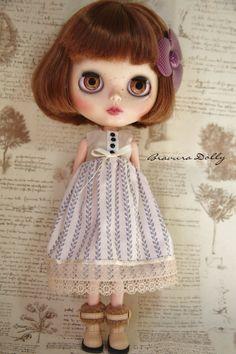 Beautiful Blythe  Cotton Summer Dress by bravuradolly on Etsy