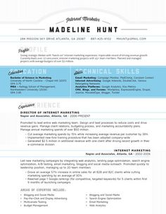 28 best creative resume examples images on pinterest in 2018