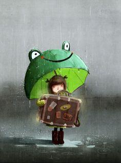 El paraguas que todos queríamos tener. Pero algunos como yo aun lo queremos. Walizka Pana Hanumana by Emilia Dziubak