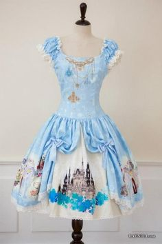 Pop*Princess: A Lolita Dream List Disney Inspired Outfits, Disney Outfits, Disney Style, Disney Fashion, Disney Clothes, Cinderella Dresses, Disney Dresses, Cinderella Disney, Disney Princess