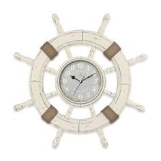 FirsTime® Ship Wheel Wall Clock - BedBathandBeyond.com