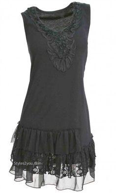 AP Remy Antique Shirt Dress In Black