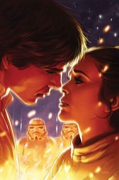 Star Wars Rebels and Rogues Part I Greatest Moments variant cover - Han Solo and Princes Leia by Kaare Andrews * Star Wars Comics, Marvel Comics, Han Solo Leia, Han And Leia, Star Wars Ships, Star Wars Art, Saga, The Empire Strikes Back, Star Citizen