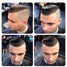 Haircut. slick undercut