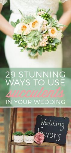 Succulents are the sweetest detail in your wedding decor!