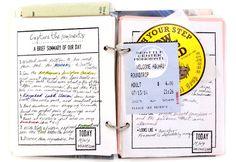Travel journal memorabilia