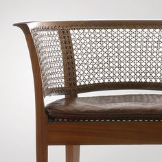 Kaare Klint: Faaborg Chair, 1914 Made by Rud. Rasmussen. Mahogany, cane, leather