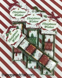Nuggets created with the Merry Mistletoe stamp set & Be Merry dsp Christmas Craft Show, Christmas Gift Box, Stampin Up Christmas, Christmas Wishes, Christmas Projects, Christmas Ideas, Christmas Sale, Candy Crafts, Holiday Crafts