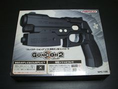 USED Guncon 2 Gun Controller Playstation PS2 BOXED Import Japan 1326 #SONY