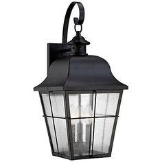 "Quoizel Millhouse 22"" High Black Outdoor Wall Light"