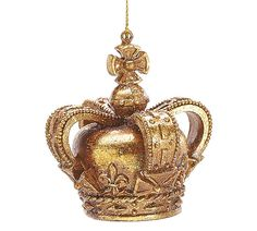 "The Jolly Christmas Shop - 3 3/4"" Gold Crown Christmas Ornament 9722756, $7.99 (http://www.thejollychristmasshop.com/3-3-4-gold-crown-christmas-ornament-9722756/?page_context=category"