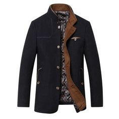 Fall Casual Business Woolen Single Breasted Jackets for Mensales-NewChic Mobile