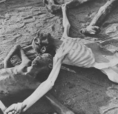 One scene that greeted the liberators of Bergen-Belsen.