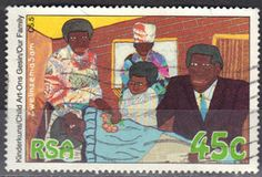 Stamp: Visit my brother in the hospital (South Africa) (Our family) Mi:ZA 856 Union Of South Africa, Postage Stamps, Brother, African, Xmas, Stamps