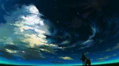 anime, sky, and clouds Bild