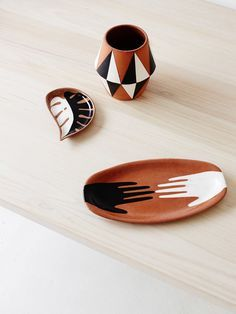 Sharon Muir terracotta ceramics. Photo – Sean Fennessy, styling – Lucy Feagins.
