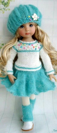 Crochet Toys For Kids Pictures 61 Ideas Knitting Dolls Clothes, Crochet Doll Clothes, Sewing Dolls, Knitted Dolls, Girl Doll Clothes, Crochet Toys, Girl Dolls, Baby Dolls, Crochet Hat With Brim
