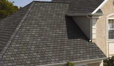 CertainTeed: Highland Slate (Black Granite, Fieldstone, New England Slate, Smokey Quartz) Types Of Roof Shingles, Slate Shingles, Slate Roof, Asphalt Shingles, Roofing Shingles, Roof Shingle Colors, Asphalt Roof, Architectural Shingles, Fibreglass Roof