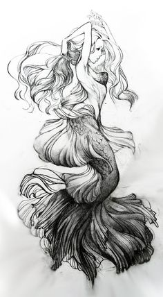 I'm so happy people draw mermaids more intricate than once before.: