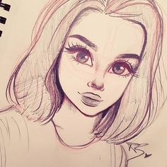 Beautiful girl drawing. Art