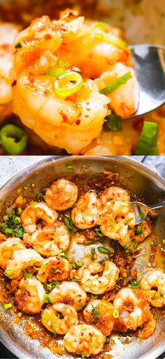 Scrumptiously Sticky Honey Garlic Shrimp Recipe made in just 10 minutes are here to please your seafood cravings. Scrumptiously Sticky Honey Garlic Shrimp Recipe made in just 10 minutes are here to please your seafood cravings. Asian Seafood Recipe, Seafood Pasta Recipes, Shrimp Recipes Easy, Fish Recipes, Asian Recipes, Healthy Recipes, King Prawn Recipes, Garlic Prawns, Healthiest Seafood