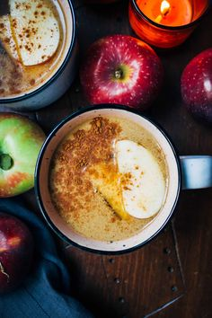 This apple chai latte is the perfect cozy autumn drink - with warming chai tea, tart apple cider, and sweet New England maple syrup.