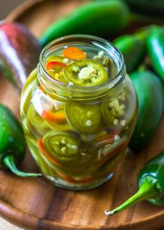 Can you believe these crunchy, tangy, and sweet pickled jalapenos are ready in under 10 minutes?! After trying this quick pickled jalapeno recipe, I promise you will never go back to jarred jalapenos again. This recipe seriously could not be easier and is well worth the time. These jalapenos are so much better than canned and do not contain preservatives or artificial colors. The mixture of vineg...