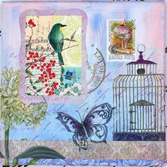 Butterfly and Bird Collage 2