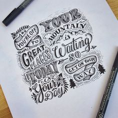 If you know the author/source please let me know to give credit. Hand Lettering Quotes, Creative Lettering, Lettering Styles, Typography Letters, Brush Lettering, Lettering Design, Typography Drawing, Sketch Note, Bullet Journal Cover Ideas