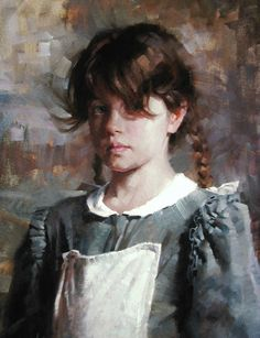 """""""Valerie"""" - Morgan Weistling {contemporary figurative impressionist art female redhead young woman teenager cropped painting} morganweistling.com"""