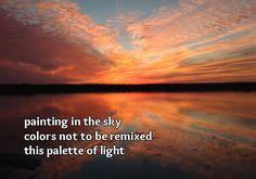 one more time, #haiku #sunset