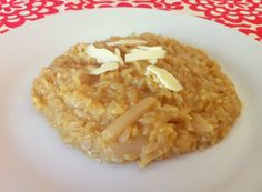 risoto de arroz integral e aspargos