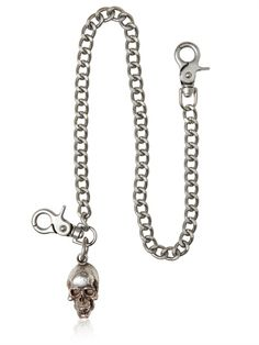 JOHN VARVATOS - SKULL & BONES WALLET CHAIN - LUISAVIAROMA - LUXURY SHOPPING WORLDWIDE SHIPPING - FLORENCE