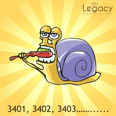 Did you know? A snail's mouth is no larger than the head of a pin, yet it can contain over 25,000 teeth. Book your appointment by calling us on 972-723-1148 or email us at info@legacydentistry.com  #legacydentistry #midlothian #texas